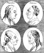 Woodcut from Physiognomische Fragmente by Johann Kaspar Lavater, 1775