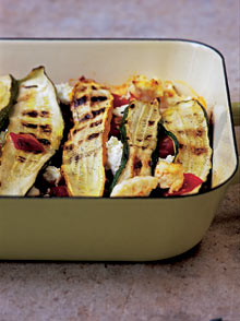Courgette, tomato and ricotta bake. Photograph: Jonathan Lovekin