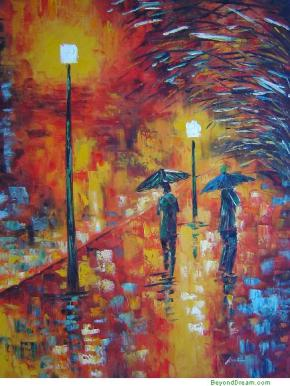 """Walking in the Rain at Night"""