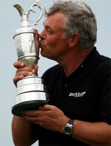 Winner of British Open pays emotional tribute to late wife