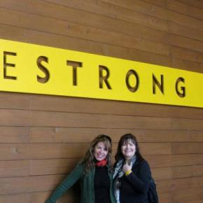 LIVESTRONG leaders, Vanessa Reid (left) and Shu Milne