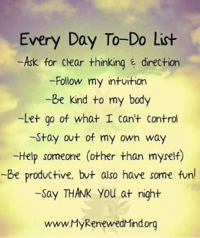 every day to do list