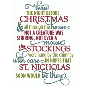 photograph about Twas the Night Before Christmas Poem Printable titled Twas the evening in advance of Xmas Journeying Outside of Breast